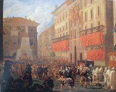 WILLEN REUTER, Fiesta por el nacimiento del príncipe Carlos frente al palacio de la embajada de España en Roma, 1662. Gemaldegalerie der Akademie der Bildenden Küster de Viena
