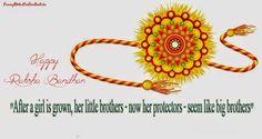 After girl is grown, her little brother now her protectors seem like big brother... Happy Raksha Bandhan...!