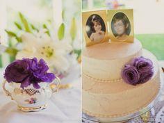 Topo de bolo de porta-retrato - todo o casamento é meigo, vintage e lindo