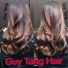 Ombre Hair - I gave my client Alice my signature ombré lights with a deep mocha flavor to enrich things for the season