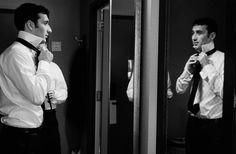 groom mirror shot