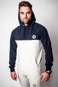 Avid Attire Polka Hooded Sweatshirt | Navy x Oat