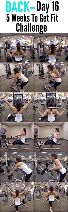 Gain Muscle Naturally: 5 Weeks to get Fit Challenge Day 16-BACK