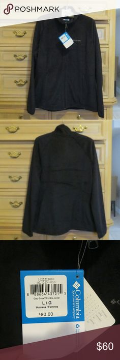 Columbia Women's Fleece Jacket NWT! Size L! Color Black! It has 2 side pockets with zipper.. Columbia Jackets & Coats
