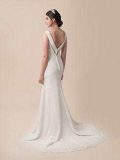 Moonlight Tango T794 Sequin Informal Casual Wedding Dress With V Neck