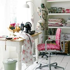 sewing area/room