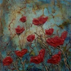 Sold works Encaustic and Shelic on Wood Panel - Tracy Proctor