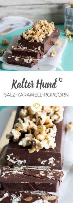 Großes Kino: Der Kalte Hund mit Salz-Karamell-Popcorn und Sahnekaramell-Bonbons vereint süß, salzig und Schokolade miteinander.