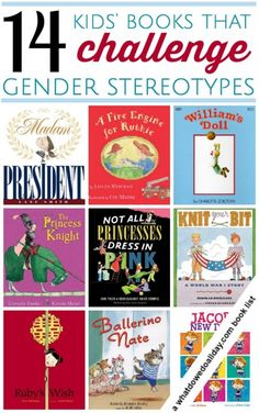Children's books that break gender stereotypes. Click through for entire book list.