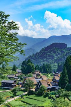 Japanese summer landscape😀 (The Gassho-zukuri Village of Ainokura) - Toyama prefecture. Japan Landscape, Landscape Photos, Japan Countryside, Gokayama, Kyoto Japan, Japan Japan, Japan Icon, Sushi Japan, Japan Art