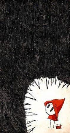 Little Red-Riding Hood - Le petit Chaperon Rouge Little Red Hood, Little Red Ridding Hood, Red Riding Hood, Illustration Inspiration, Children's Book Illustration, Food Illustrations, Angst Im Dunkeln, Dessin Old School, Art Manga