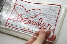 clear December page