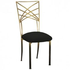 Two Tone Gold Chameleon Chair with ivory pad