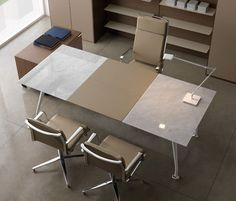 12 Office Desk Redo Ideas for you to renovate your Work space! Office Table Design, Office Interior Design, Office Interiors, Home Office Chairs, Office Workspace, Home Office Decor, Business Office Decor, Desk Redo, Marble Desk
