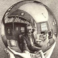Escher artwork on a tshirt. For all the fans of the wrt of MC Escher there is a shirt. Mc Escher, Escher Art, 5 Point Perspective, Walter Benjamin, Illusion Drawings, Vanishing Point, Fantasy Films, Dutch Artists, Kandinsky