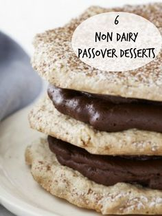 6 Non Dairy Passover Desserts including this Mixed Nut Chocolate Torte
