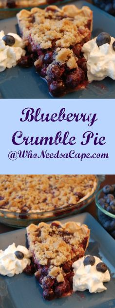 Blueberry Crumble Pie Collage