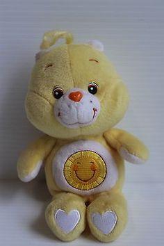 Talking FUNSHINE BEAR Care Bear Stuffed Plush Yellow Bear