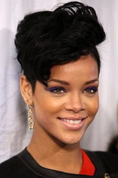 Rihanna - Her Hair Through the Years: Pompadour - November 2008
