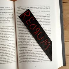 REDRUM bookmark / Gifts for book lovers / Stephen King
