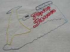 #TheXFiles The truth is out there #2 : The Flying Saucer - unique piece, imagined and #embroidered because Fox is an awesome name !