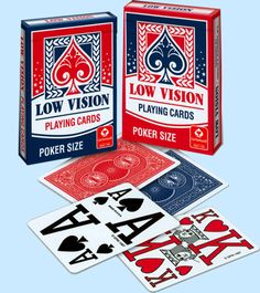Low Vision Playing Cards with Extra Large Numbers and Pips!