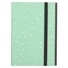 Mint Green Water Droplets Cover For iPad Air