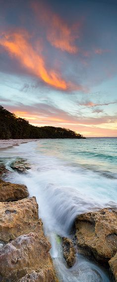 Fire and Water | Sunset at Murray's Beach, New South Wales, Australia