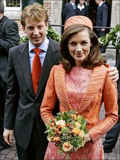 Prince Floris of Orange-Nassau, van Vollenhoven and Aimée Söhngen. The couple married in a civil ceremony on 20 Oct 2005