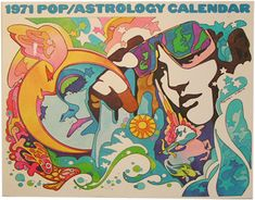 1971 Pop/Astrology Calendar illustration by Frederic Martin