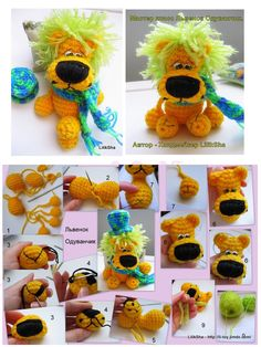 """Knitted toy """"Lev - Dandelion"""""""