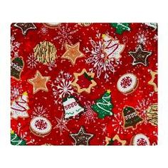 #Christmas #Cookies Throw #Blanket by Lee Hiller Designs #HomeDecor