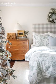 Our Snowy Christmas Bedroom - Sincerely, Marie Designs Kids Bedroom, Master Bedroom, Christmas Bedroom, Family Movie Night, Dresser As Nightstand, Soft Colors, Outdoor Spaces, Interior, Table