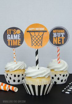 These CUSTOM PRINTABLE (DIY) party tags are perfect for an upcoming Basketball Party. Party materials can be printed at home or your local print shop. Print, cut and party! Its as easy as that! Basketball Cupcakes, Basketball Party, Sports Party, Basketball Crafts, Basketball Hoop, Basketball Bracket, Basketball Signs, Basketball Anime, Basketball Posters