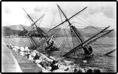 Abandoned Ships, Shipwreck, Tall Ships, Sailing Ships, Cathedral, Water, World, Black And White, Cities