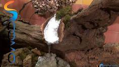 Cómo hacer una cascada real con salto de agua para el pesebre - Real cas...