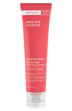 Paula & # s Choice Defense Essential Glow Moisturizer Spf 30 - Gesundheit Anti Aging Moisturizer, Tinted Moisturizer, Moisturiser, Glow, Bare Minerals, Even Skin Tone, Skin Brightening, Best Face Products, Beauty Products