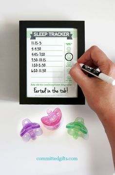 Dry erase sleep tracker for babies. Included in Dry Erase Newborn Feeding Tracker. Love this for tracking naps once feeding is going well!