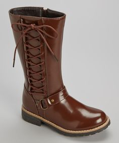 Another great find on #zulily! Brown Vilena Boot by Yokids #zulilyfinds