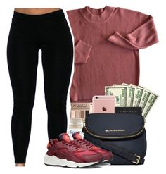 """"" by heavensincere ❤ liked on Polyvore featuring MICHAEL Michael Kors and NIKE"