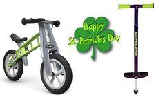 Giveaway Alert! NSG Grom Pogo Stick & WeeBikeShop FirstBIKE Happy Patrick Day, Happy St Patricks Day, Pogo Stick, Balance Bike, Celebrity Babies, Classic Toys, Giveaway, Trends, Celebrities