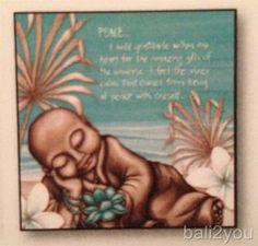 Lisa Pollock- Aqua Monk Canvas-Wall Art, Home Decor-Peace
