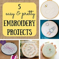 5 easy embroidery projects   A #2usestuesday Feature!