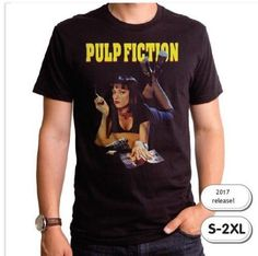Pulp Fiction T-Shirt / Sexy Uma Thurman as Mia – Official Pulp Fiction Men's Tee