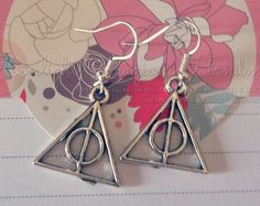 Handmade Deathly Hallows & Silver Snitch Earrings by moonlightcreazioni. Explore more products on http://moonlightcreazioni.etsy.com