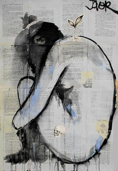 "Saatchi Online Artist Loui Jover; Drawing, ""life death and discontent"" #art"