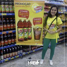 Ação da Lipton, nos supermercados Guanabara!