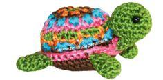 Vieni a Lavorare a maglia un uncinetto tartaruga (amigurumi)