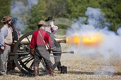 © Brandon Alms | Dreamstime.com - Battlefield, Missouri, USA - August 11, 2012: Civil war re-enactors fire off a cannon at Wilson's Creek National Battlefield Park in Battlefield, MO. Wilson's Creek was the first major Civil War battle fought west of the Mississippi River, and the scene of the death of general Nathaniel Lyon.