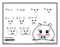 How to draw a hamster complete with video. #kids #children #art